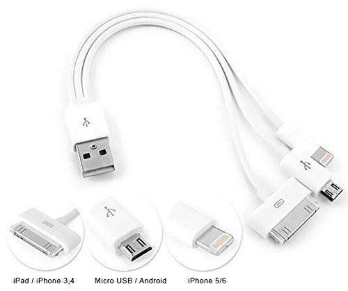 Turbold 3 in 1 Multi USB Charger Cable for All Mobile Devices Tajori