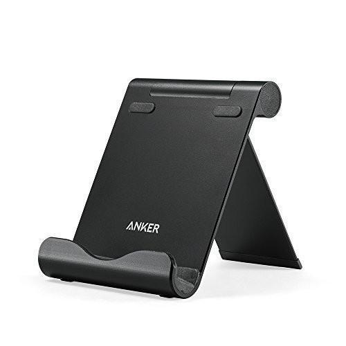 [Ultra Light Upgrade] Anker Aluminum Multi-Angle Universal Phone and Tablet Stand for iPhone, iPad, Samsung Galaxy, HTC, Nexus and More (Black) Tajori