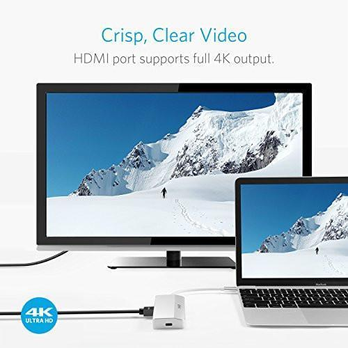 [Upgraded] Anker Premium USB-C Mini-Dock with 2 USB 3.0 Ports, 4K HDMI Port, SD Card Port, Ethernet Port, and a USB-C Input Port for Macbook, Chromebook, and More Tajori