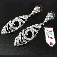 Women Fashion Earring in Silver Metal with Long Drop Fish Design Tajori