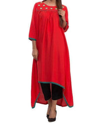 Women Kurta with Front Embriodery Tajori