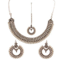 Women Set (Necklace + Earings + Mattha Patti) Tajori