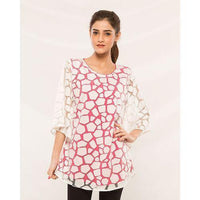 Women Western Top in Textured Fabric with Satin Linning Tajori