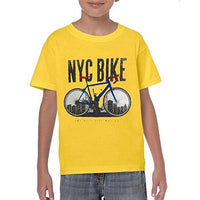 Yellow Cotton Printed T-shirt For Kids Tajori