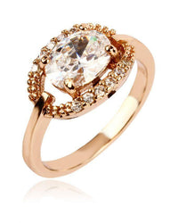 Zircon Studded 18-K Gold Plated Fancy Ring Tajori