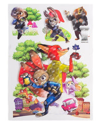 Zootopia 3D Stickers Sheet Tajori