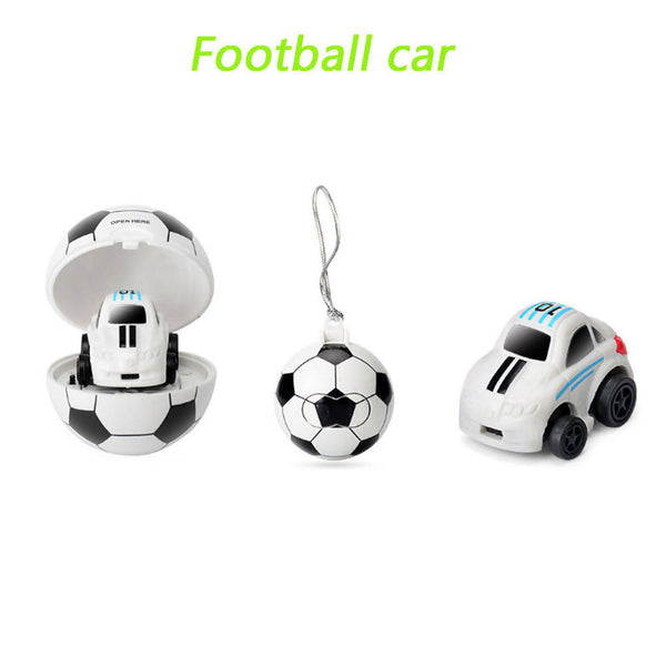 Classical 2.4G Mini Football Storage Car and Remote Control Ball Car Model Toy Mini Remote Control Car Mini Football/Basketbll Storage Car Soccer Remote Control Car Model Toy Mini 2 in 1 RC Car 2CH Remote Control Model