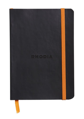 Rhodia - Soft Cover Rhodiarama Notebooks, 3 1/2 x 5 1/2 (A6), Black, Lined