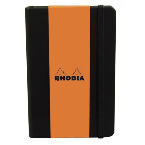 Rhodia - Boutique Webnotebooks Bound 3 1/2 x 5 1/2 Lined Black 96 Sheets (A6)