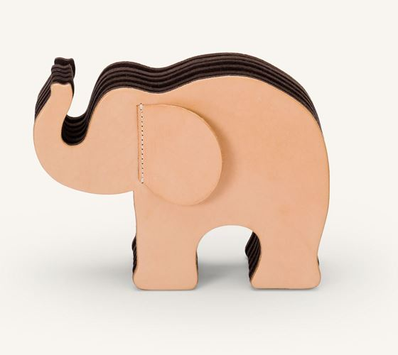 Graf von Faber-Castell Leather Elephant Pencil  Natural Holder Large