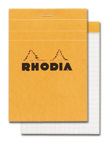 Rhodia - Classic Notepads Top Staplebound 3 3/8 x 4 3/4 Graph Orange 80 sheets