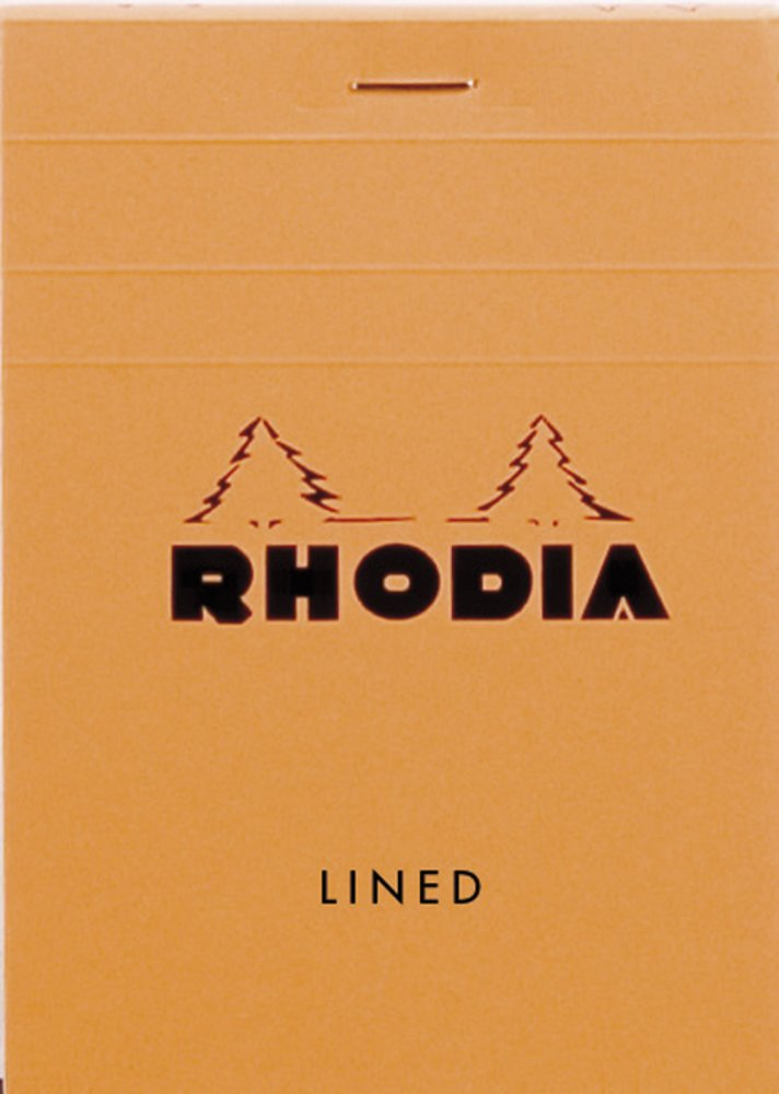 Rhodia - Rhodia Classic Notepads Top Staplebound 3 3/8 x 4 3/4 Lined Orange 80 sheets