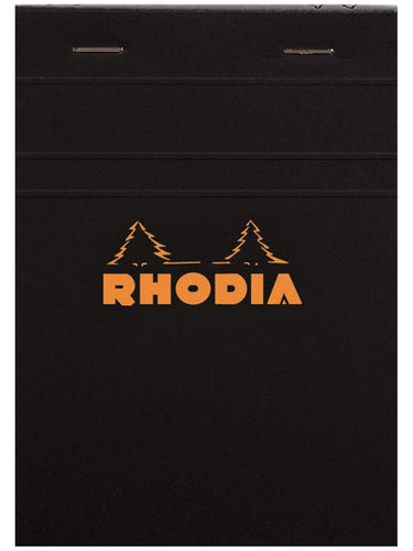 Rhodia - Classic Notepads Top Staplebound 3 3/8 x 4 3/4 Lined Black 80 Sheets