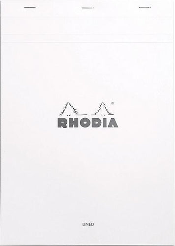 Rhodia - Ice Notepad Top Staplebound 8 1/4 x 11 3/4 Lined 'Ice' 80 Sheets