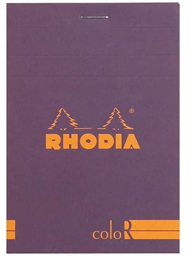 Rhodia - ColorR Premium Stapled Notepad, Violet, Lined, 3 3/8 x 4 3/4