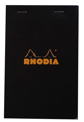 Rhodia - Classic Notepads Top Staplebound 4 3/8x 6 3/8 Graph Black 80 Sheets