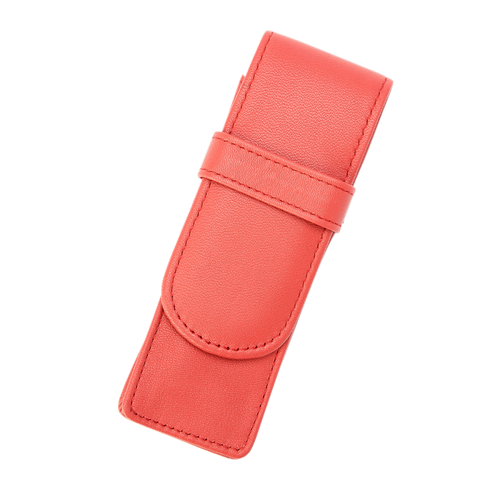 Royce Leather 2 Pen Case Red