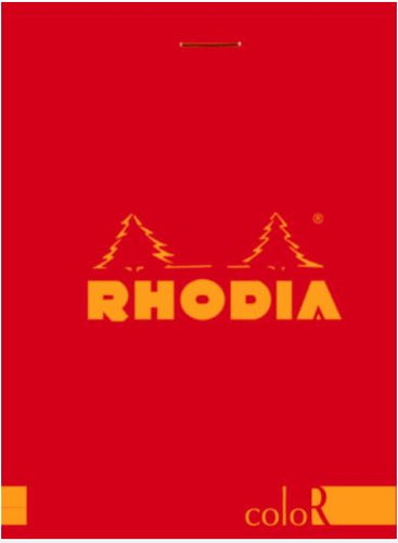Rhodia - ColorR Premium Stapled Notepad, Red, Lined, 3 3/8 x 4 3/4