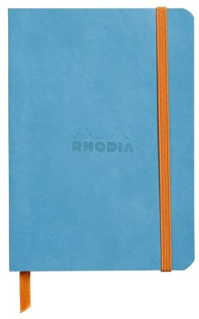Rhodia - Soft Cover Rhodiarama Notebooks, 3 1/2 x 5 1/2 (A6), Turquoise, Lined