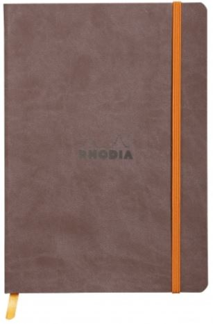 Rhodia - Soft Cover Rhodiarama Notebooks, 6 x 8 1/4 (A5), Chocolate, Lined