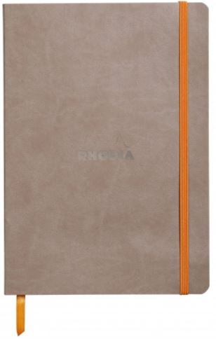 Rhodia - Soft Cover Rhodiarama Notebooks, 6 x 8 1/4 (A5), Taupe, Lined