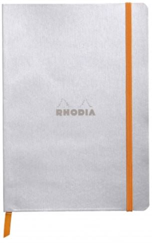 Rhodia - Soft Cover Rhodiarama Notebooks, 6 x 8 1/4 (A5), Silver, Lined