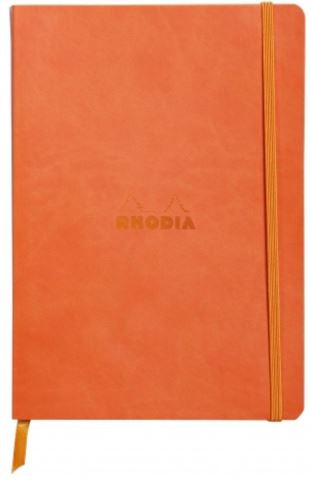 Rhodia - Soft Cover Rhodiarama Notebooks, 6 x 8 1/4 (A5), Tangerine, Lined