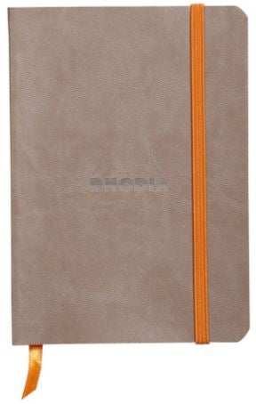 Rhodia - Soft Cover Rhodiarama Notebooks, 3 1/2 x 5 1/2 (A6), Taupe, Lined