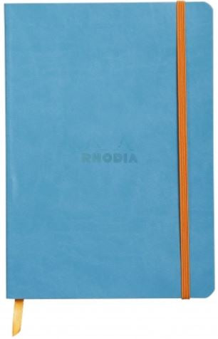 Rhodia - Soft Cover Rhodiarama Notebooks, 6 x 8 1/4 (A5), Turquoise, Lined