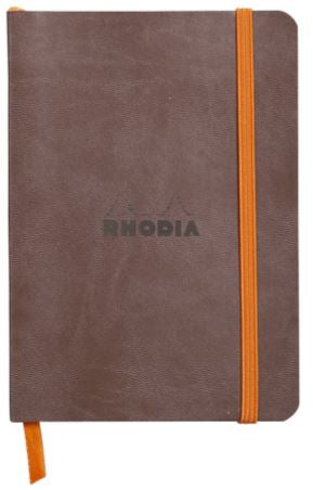 Rhodia - Soft Cover Rhodiarama Notebooks, 3 1/2 x 5 1/2 (A6), Chocolate Lined