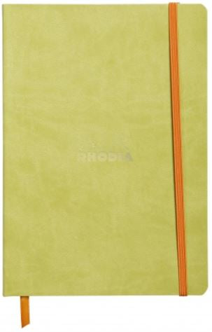 Rhodia - Soft Cover Rhodiarama Notebooks, 6 x 8 1/4 (A5), Anise Green, Lined