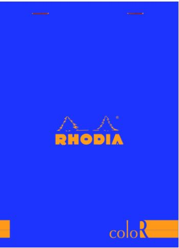 Rhodia - ColorR Premium Stapled Notepad, Sapphire, Lined, 6 x 8 1/4