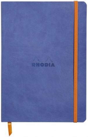 Rhodia - Soft Cover Rhodiarama Notebooks, 6 x 8 1/4 (A5), Sapphire, Lined
