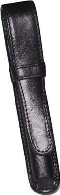 Aston Leather 1 Pen Holder Black