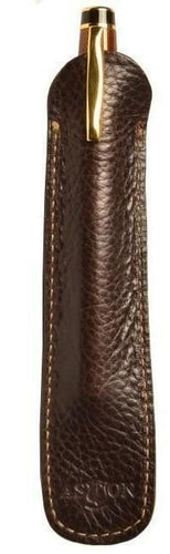 Aston Leather 1 Pen Slip Brown - Accessories