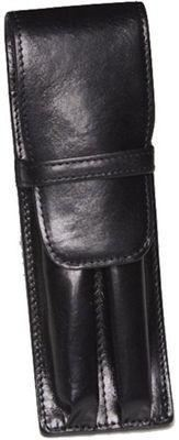 Aston Leather 2 Pen Holder Black - Accessories