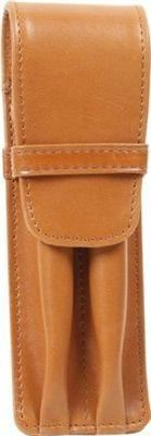 Aston Leather 2 Pen Holder Tan - Accessories