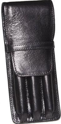 Aston Leather 3 Pen Holder Black - Accessories