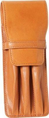 Aston Leather 3 Pen Holder Tan - Accessories