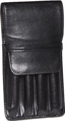 Aston Leather 4 Pen Holder Black