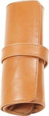 Aston Leather 5 Pen Rollup Tan - Accessories