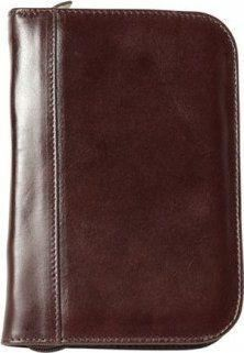 Aston Leather Collector's 10 Pen Case Brown