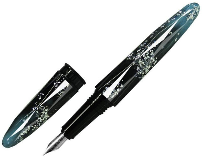 Benu Briolette Luminous Blue Fountain Pen - Medium - Pens