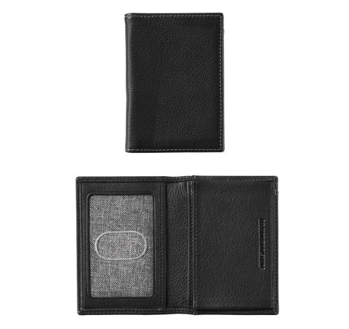 Bifold Card Case - Black - Leather