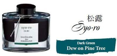 Bottled Ink Iroshizuku Dew on Pine Tree (syoro)