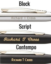 Cross Atx Brushed Chrome Diamond Pattern Rollerball Pen - Pens