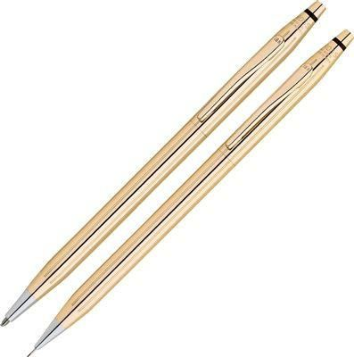 Cross Classic Century 18Kt Gold Ballpoint Pen and 0.7mm Pencil Set