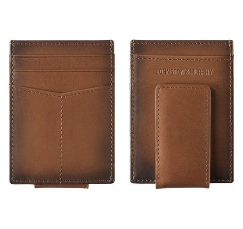 Front-Pocket Wallet/money Clip - Tan - Leather