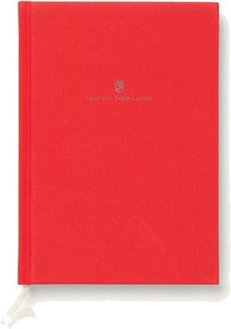 Graf von Faber-Castell Linen-bound book A5 India Red