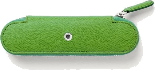 Graf von Faber-Castell Leather Standard case for 2 pens with zipper Epsom, Viper Green